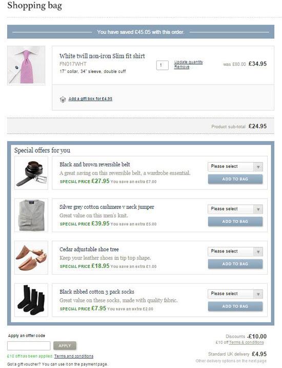 Charles Tyrwhitt £20 Off Promo Code and Charles Tyrwhitt Voucher Code Checkout Image