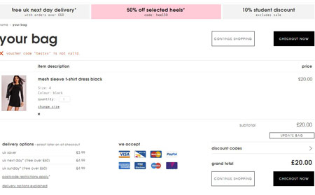 Missguided 20 off Discount Code Checkout Image